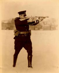 Lt. Albert Field with Thompson .45 submachine gun Connecticut State Police 1.jpg