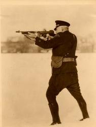 Lt. Albert Field with Thompson .45 submachine gun Connecticut State Police (2).jpg
